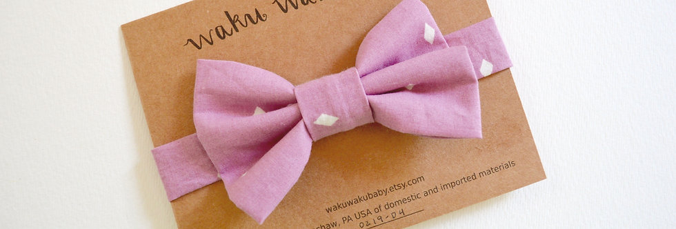 Handmade pink bow tie for 5-8 year olds