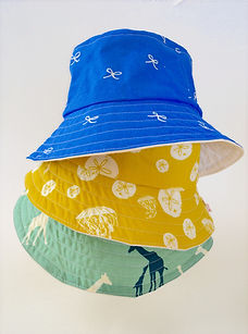 reversible bucket hat by Waku Waku Baby