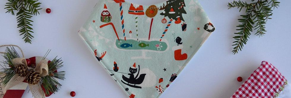 baby bandana bib for the holidays and christmas stocking