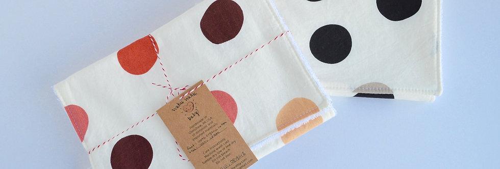 set of two burp cloths