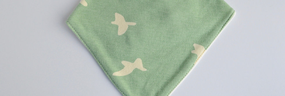 Mint colored baby bandana bib
