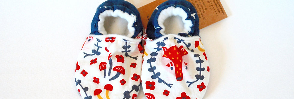 Stay-On Baby Shoes - Foxy Navy
