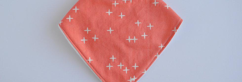 coral baby bandana bib