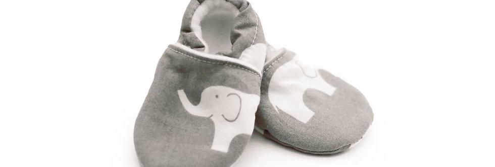 Organic Cotton Baby & Toddler Shoes - Grey Elephant