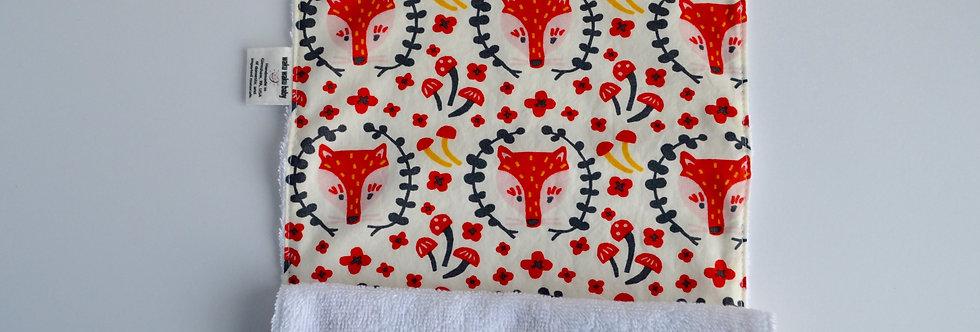One burp cloth in cute fox print