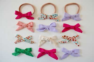 Colorful hair bows by Waku Waku Baby
