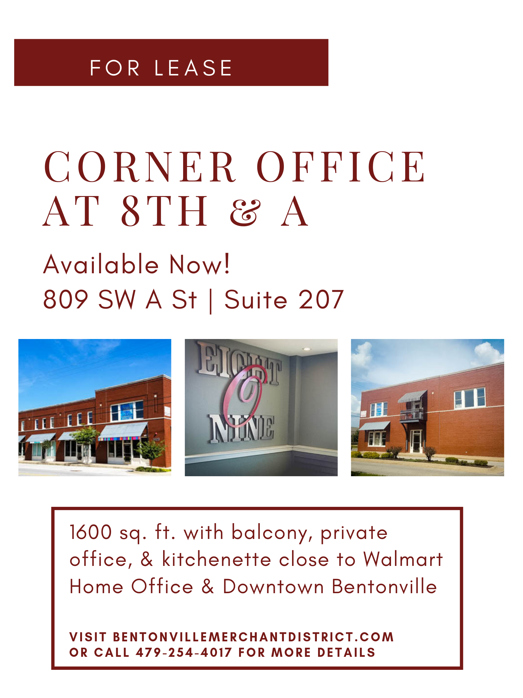 Office Space Available 207