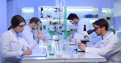 Team of Biologists Work Activity in Rese