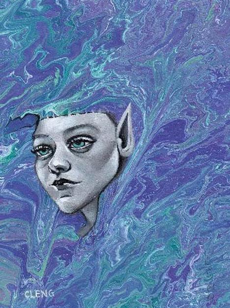 """""""Lila 2"""" (Original Painting) by Cleng Sumagaysay"""