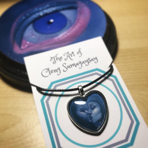 I Left My Heart in San Francisco Heart Necklace