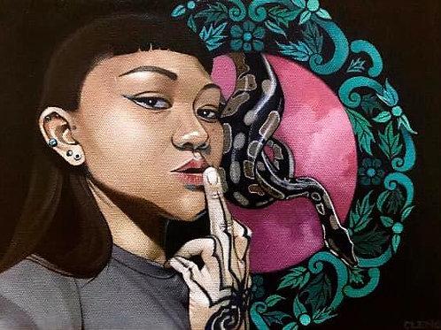 """When the Muse Strikes"" (Original Painting) by Cleng Sumagaysay"
