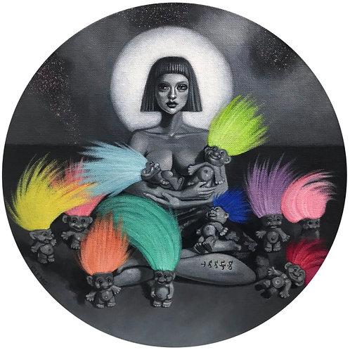 """Nocturna + Trolls"" (Original Painting) by Cleng Sumagaysay"