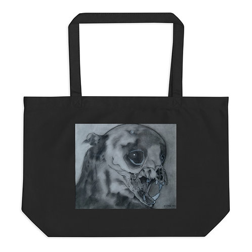 The Bearcat's Last Cry Large Organic Tote Bag