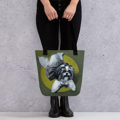 Custom Pet Tote bag (UPLOAD YOUR PET'S PHOTO: link in description)
