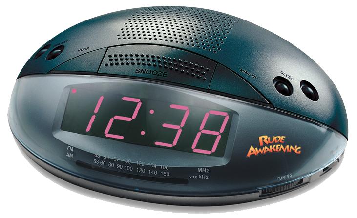 Rude Awakening Alarm Clock