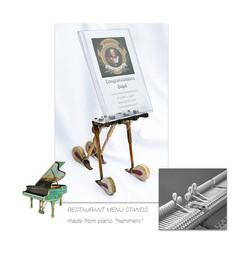 Piano Hammer Menu Stand