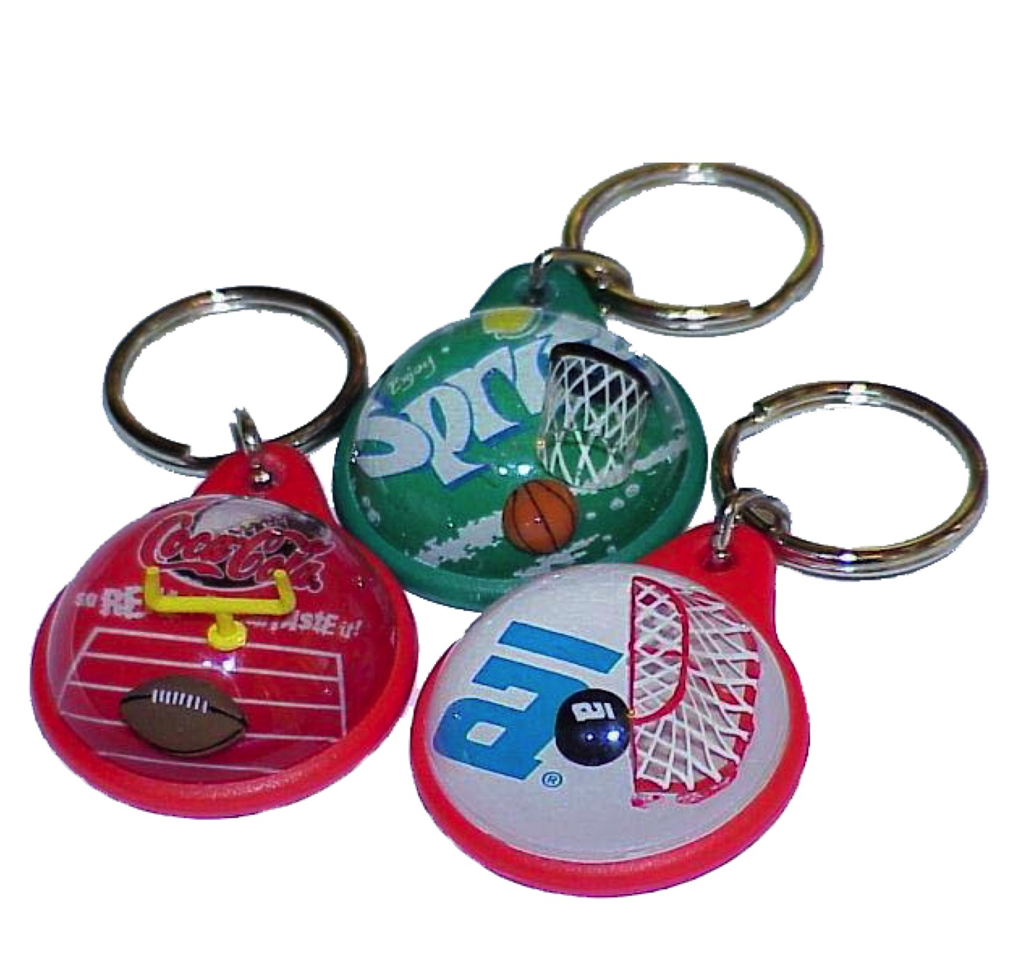 Sport Line of Bubble Keychains