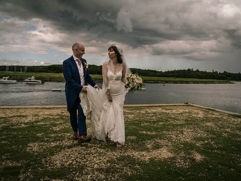 Rachael and Tim's New Forest Wedding under a stormy sky