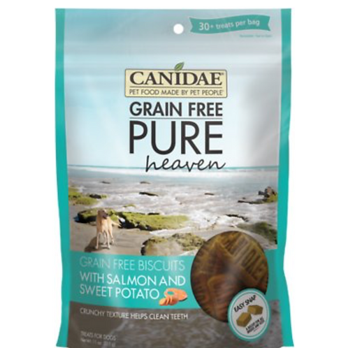 CANIDAE Grain-Free PURE Heaven Biscuits with Salmon & Sweet Potato Treats