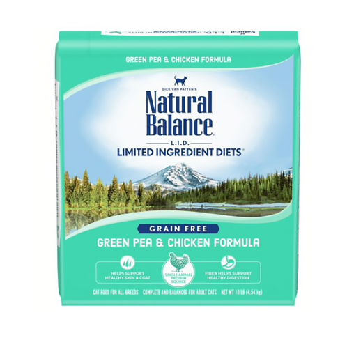 Natural Balance L.I.D. Green Pea & Chicken Formula Grain Free Cat Food