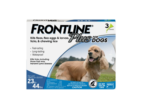 Frontline Plus Flea and Tick Dog Treatment 23-44 lbs