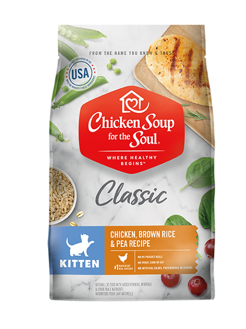 Chicken Soup for the Soul Classic Kitten Dry Food - Chicken, Brown Rice & Pea