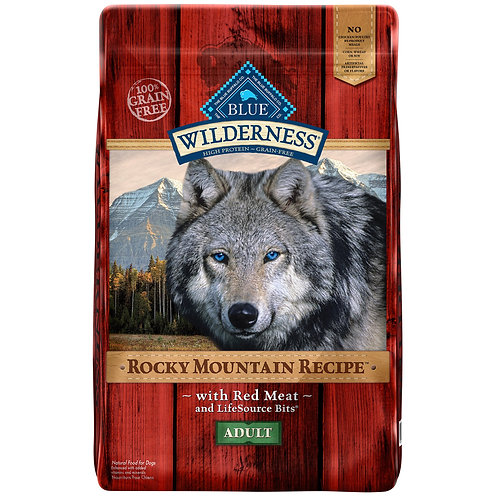 Blue Buffalo Wilderness Rocky Mountain Recipe with Red Meat LB Adult Grain-Free