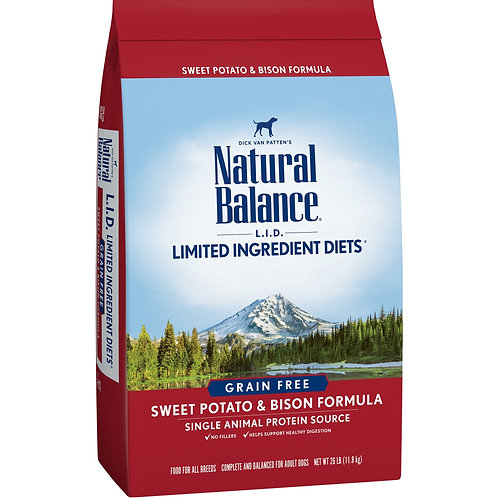 Natural Balance Limited Ingredient Diets Sweet Potato & Bison Formula