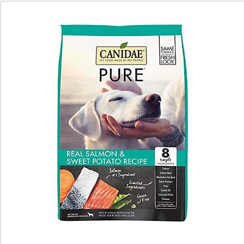 CANIDAE Grain-Free PURE Real Salmon & Sweet Potato Recipe Dry Dog Food