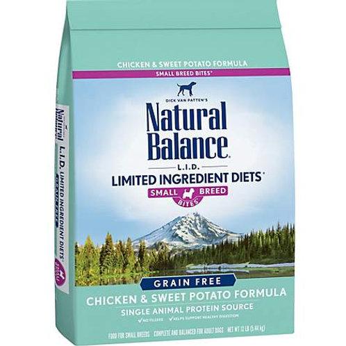 Natural Balance L.I.D. Chicken & Sweet Potato Formula Small Breed Bites
