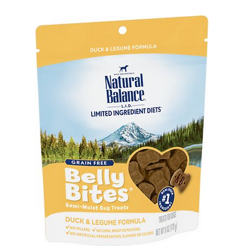 Natural Balance Limited Ingredient Diets Belly Bites Duck & Legume Treats