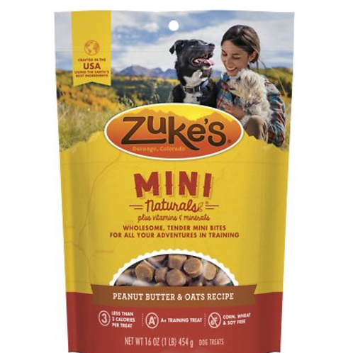 Zuke's Mini Naturals Peanut Butter & Oats Recipe Dog Treats