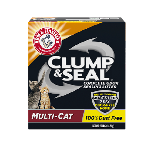 ARM & HAMMER™ Clump & Seal™, Complete Odor Sealing Clumping Litter, Multi-Cat