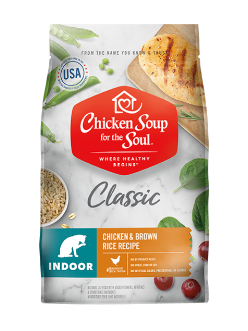 Chicken Soup for the Soul Classic Indoor Cat Dry Food - Chicken & Brown Rice