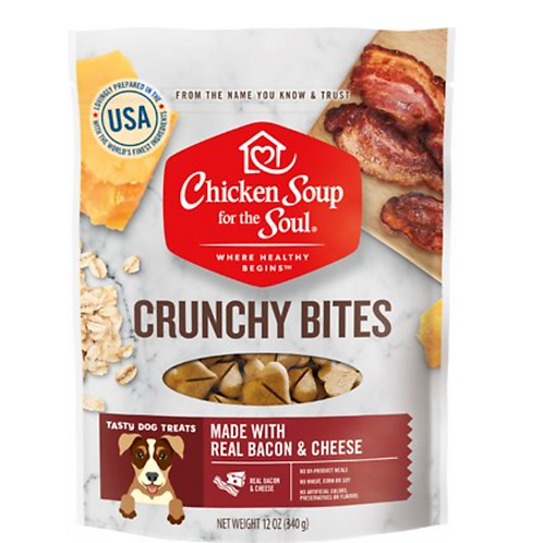 Chicken Soup for the Soul Crunchy Bites Bacon & Cheese Dog Treats