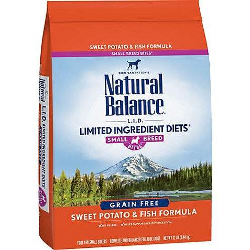 Natural Balance L.I.D. Sweet Potato & Fish Formula Small Breed Bites