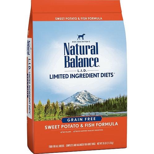 Natural Balance Limited Ingredient Diets Sweet Potato & Fish Formula Grain
