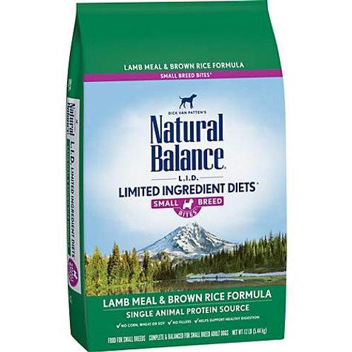 Natural Balance L.I.D. Lamb Meal & Brown Rice Formula Small Breed Bites