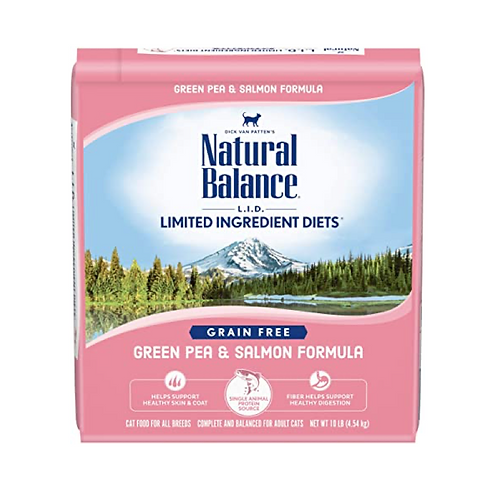 Natural Balance L.I.D. Green Pea & Salmon Formula Grain Free Cat Food