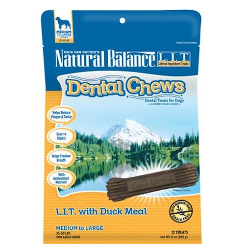 Natural Balance L.I.T. Dental Chews Duck Meal Formula Dog Treats