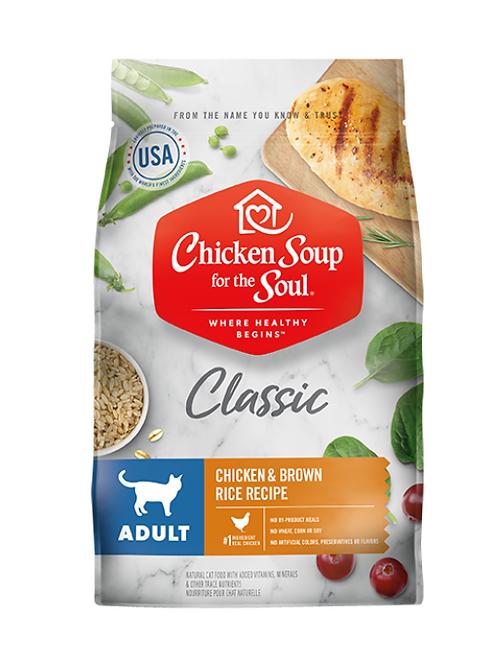 Chicken Soup for the Soul Classic Adult Cat Dry Food - Chicken & Brown Rice