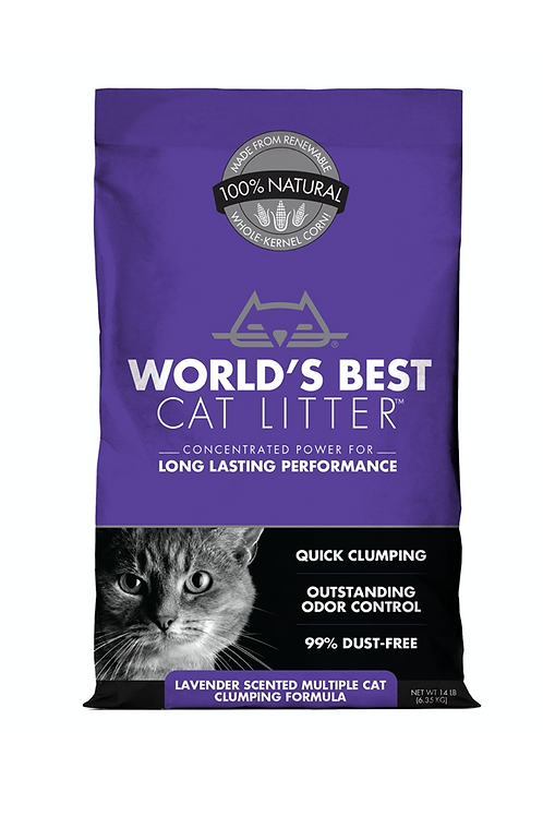 Worlds Best Multiple Cat Lavender Scented Cat Litter