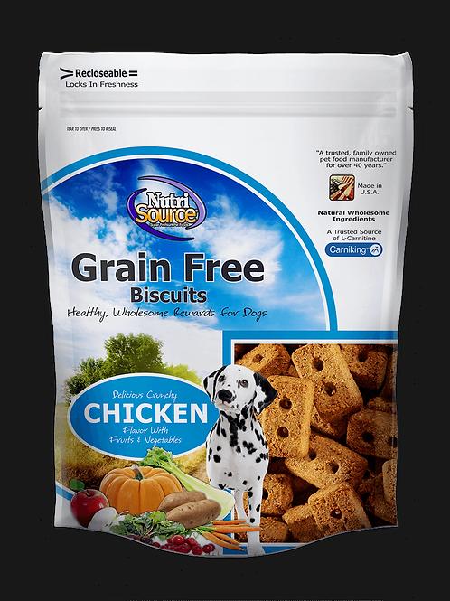 NutriSource Grain Free Chicken Dog Biscuits