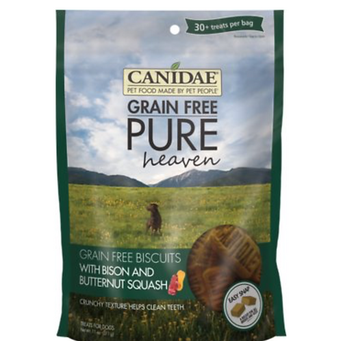 CANIDAE Grain-Free PURE Heaven Biscuits with Bison & Butternut Squash Treats