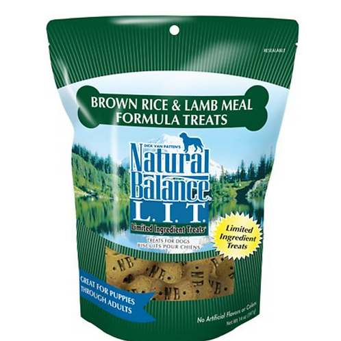 Natural Balance L.I.T. Brown Rice & Lamb Meal Formula Treats