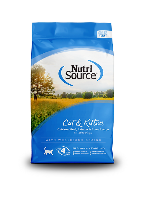 NutriSource Cat & Kitten Chicken Meal, Salmon & Liver Recipe