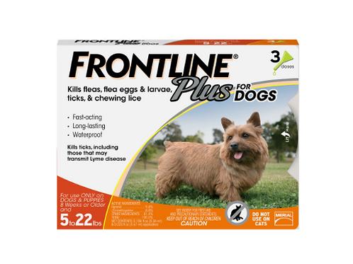 Frontline Plus Flea & Tick Dog Treatment 5-22 lbs