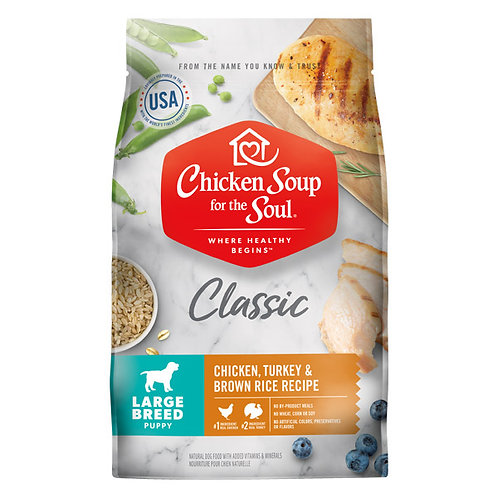 Chicken Soup for the Soul Large Breed Puppy Chicken, Turkey & Brown Rice Recipe