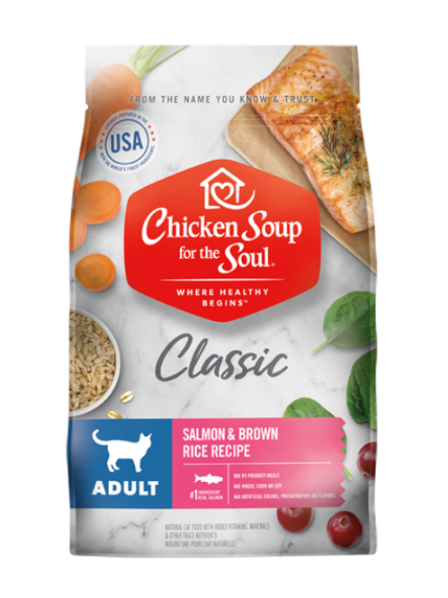 Chicken Soup for the Soul Classic Adult Dry Cat Food - Salmon & Brown Rice
