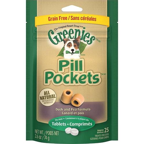 Greenies Pill Pockets Canine Roasted Duck & Pea Formula Grain-Free Dog Treats